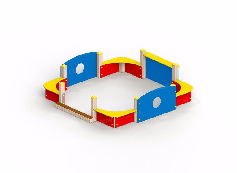 Песочный дворик без входной арки и козырька 4265
