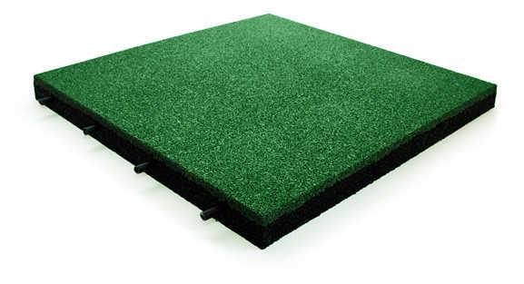 Резиновая плитка 500*500, 40 мм на твердую поверхность